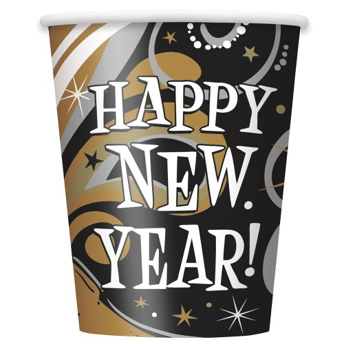 9oz New Years Burst Party Cups, 8ct