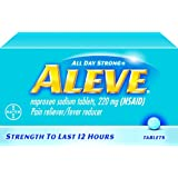 Aleve All Day Strong Pain Reliever Fever Reducer Tablets, 220 mg, 24 tabs by Bayer (Pack of 2)