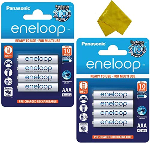 eneloop AAA 2100 Cycle Ni-MH Pre-Charged Rechargeable Batter