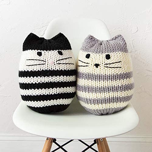 Knit Picks Mighty Mini Kitty Pouf Knitting Pattern Knit Classic Cats
