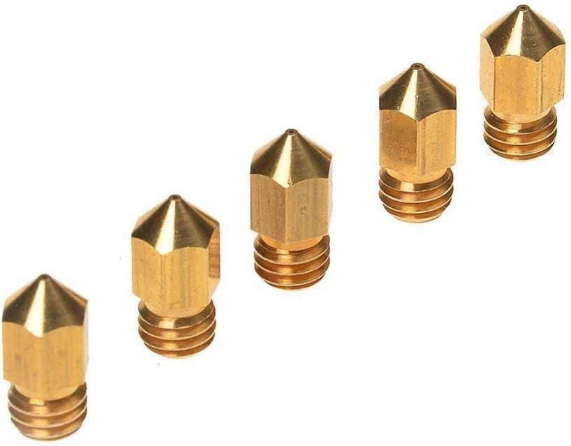 PChero 5pcs 0,4 mm Latón Boquilla Extrusora de cabezales de ...
