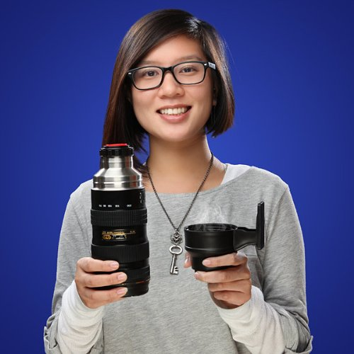 Camera Lens Stainless Steel Travel Thermos