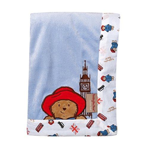 Trend-Lab-Paddington-Bear-Framed-Blue-Velour-Receiving-Blanket