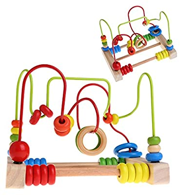 Seaskyer Wooden Toddler Toys Circle Bead Maze Educational Toys Gift for Children Kids: Industrial & Scientific