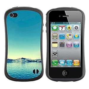 "Hypernova Slim Fit Dual Barniz Protector Caso Case Funda Para Apple iPhone 4 / iPhone 4S [Naturaleza Agua Azul""]"