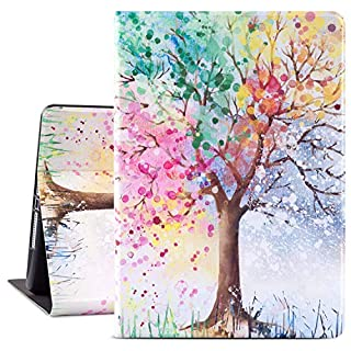 Glowish iPad Air 2 Case, ipad 6th Generation Cases Premium Leather Folio Case Cover and Multiple Viewing Angles Stand for Apple iPad 6th / 5th Gen iPad Air 2/ iPad Air(Season Tree)