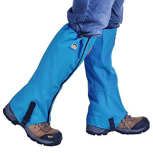 Winis Snow Gaiters Hiking Camping Mountain Climbing Leg Gaiters Oxford Waterproof Dustproof Antiwater Leg Cover Breathable Anti bite High Gaiters Leg Protection Guard Boot Guardian (1 Pair)