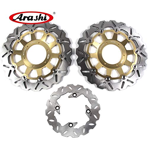 Honda Cbr954rr Rear (Arashi For Honda CBR929RR 2000 2001 Front Rear Brake Disc Rotor Disk Kit Motorcycle Accessories CBR 929 RR CBR929 929RR 00 01 Gold CBR954RR 2002-2003)