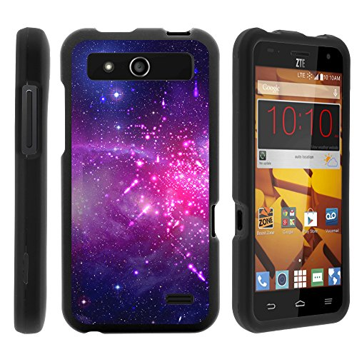 ZTE Speed Case, Slim Fit Snap On Cover with Unique, Customized Design for ZTE Speed N9130 (Boost Mobile) from MINITURTLE | Includes Clear Screen Protector and Stylus Pen - Heavenly Stars