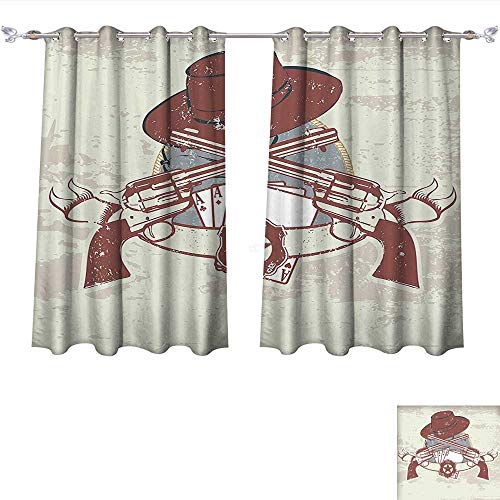 Qinqin-Home Room Darkening Wide Curtains Western Insignia and