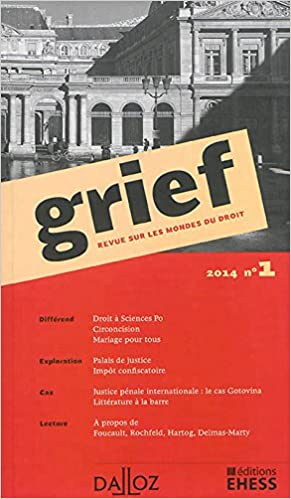 Livre gratuits en ligne Grief. Revue sur les mondes du droit - 1ère édition epub, pdf