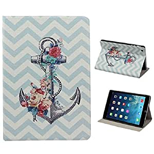 ZPS(TM) Anchors Flower Flip Stand Leather Case Cover for ipad mini 2 Retina