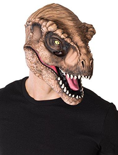 T Rex Costume Realistic (Rubie's Costume CO Men's Jurassic World T-Rex 3/4 Mask, Multi, One)