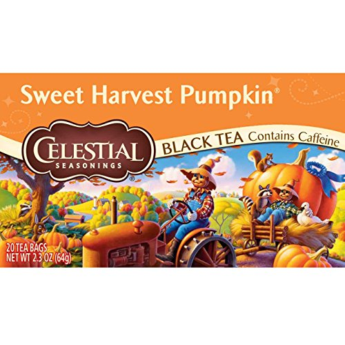 Celestial Seasonings Black Tea, Sweet Harvest Pumpkin, 20 Count