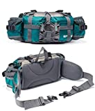 Bp Vision Outdoor Fanny Pack Hiking Camping Biking Waterproof Waist Pack 2 Water Bottle Holder Sports Bag for Women and Men Green