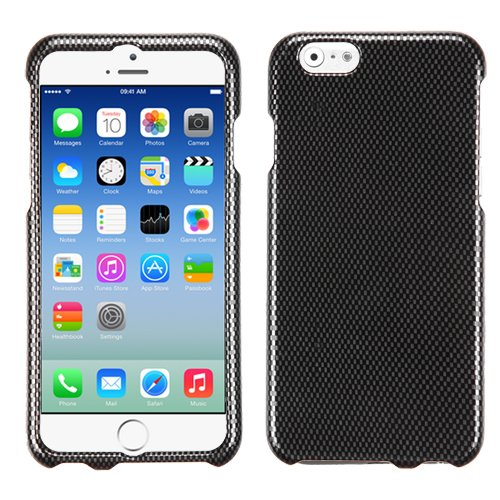 MYBAT Phone Protector Cover for iPhone 6 - Retail Packaging - Carbon Fiber/Black