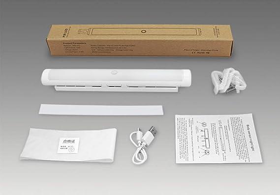 LED Lámpara Nocturna Perchero para Armario USB Recargable,Movimiento Sensor,Automáticamente Encendido/Apagado Aplicar A Gabinete Alacena Escaleras Cajón ...