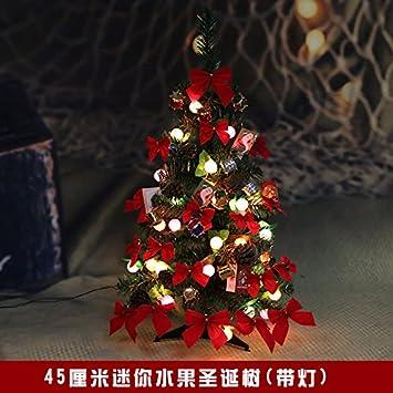 tianliang04 rbol de navidad pequeo mini decoracin luminosa 90 cm del mesa del ensamblados la decoracin - Arbol De Navidad Pequeo