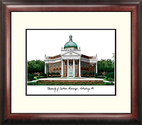 Southern Miss USM Framed Lithograph Print by Landmark Publishing