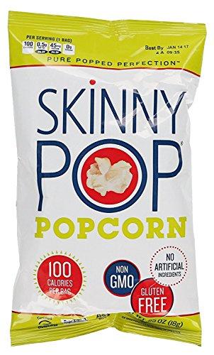 Skinny Pop Popcorn, Original, Pack of 120 Bags (0.65 Ounce) by SkinnyPop