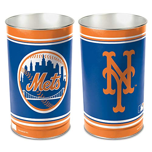 WinCraft MLB New York Mets 15 Waste Basket, Team Color, One Size]()