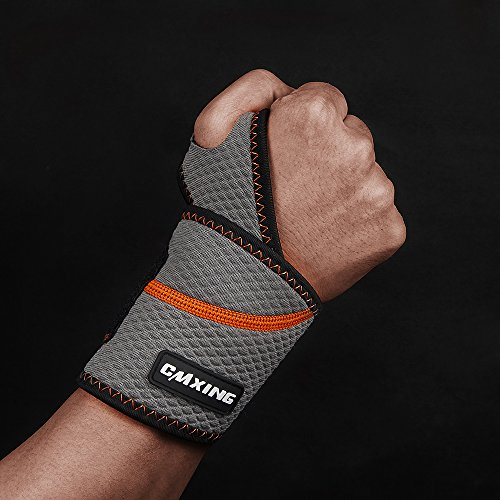 Cmxing Wrist Brace Support Adjustable Wrist Wrap for Volleyball, Tennis Basketball Helps for Wrist Arthritis, Tendonitis, and Sprains (Large) -