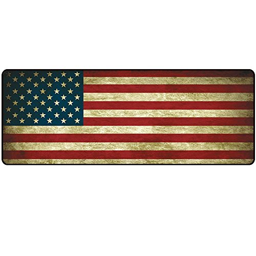 LIEBIRD Vintage Style USA / America Flag Mouse mats Extended Xxxl Gaming Mouse Pad (31.5Lx11.8Wx0.12H)