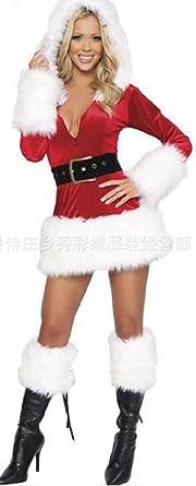 7a119719580ec プレクラースナ)欧米 風 セクシー ベルベット サンタ コスチューム レディース 長袖 クリスマス ドレス 仮装 選べる 2
