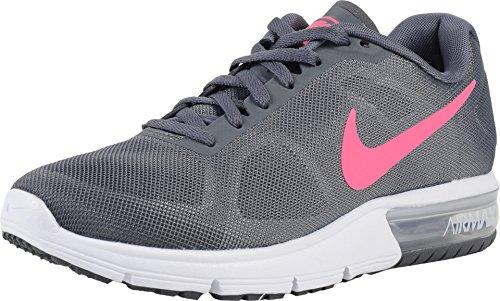 NIKE AIR Max Sequent Womens Running-Shoes 719916-016_6.5 - Dark Grey/Hyper Pink-White-Black (Nike Air Max Lebron Pink)