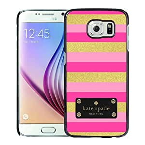 Personalized Design With Kate Spade 143 Black Samsung Galaxy S6 G9200 Protective Cover Case