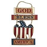 Patriotic Eagle Wall Decor GOD BLESS AMERICA Wall Sign Patriotic Wooden Sign