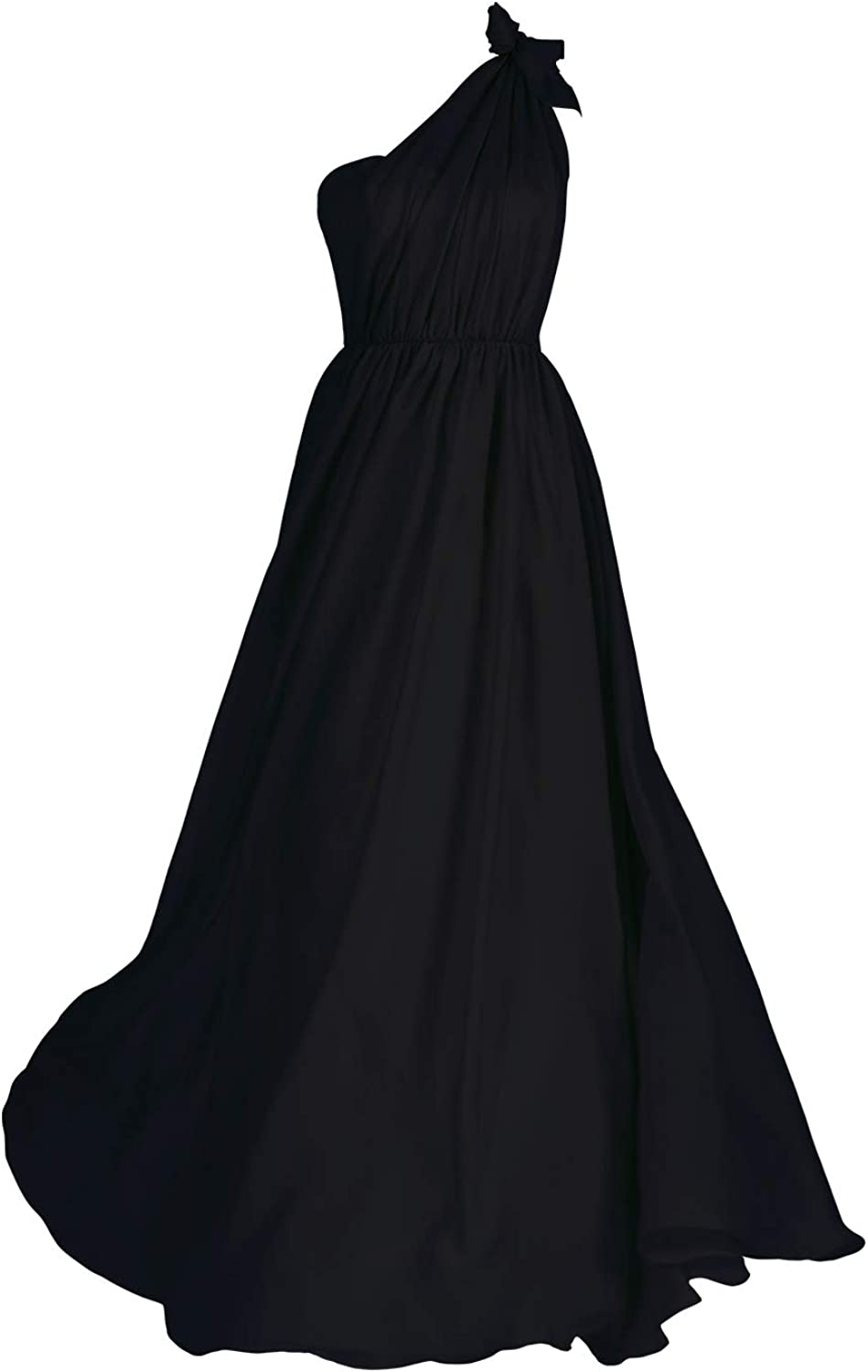 99Gown A-line Bridesmaid Dress One Shoulder Floor Length ...
