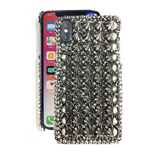 (iPhone 7/8 Plus Case Studs MAX Spiky Rhinestone Deco Handmade (iphoneXS Max))