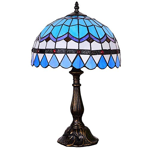 L@YC Retro Lamp Energy Saving Creative Glass Bedroom Bedside Button Decorative Table Lamp , as picture , A