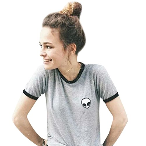 Camisetas Cortas Manga Corta Mujer Camiseta de Rayas Camisas de Mujer Camisetas de Tirantes Anchas Remeras Camisa Para Mujer Deporte Verano Poleras Top Blusas de Señora T Shirt Gris