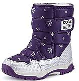 Odema Girl's Boy's Outdoor Waterproof Warm Fur Snow Boots(Toddler/Little Kid/Big Kid)