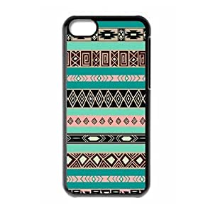 ALICASE Diy Hard Shell Case Aztec Tribal For Iphone 5C [Pattern-1]