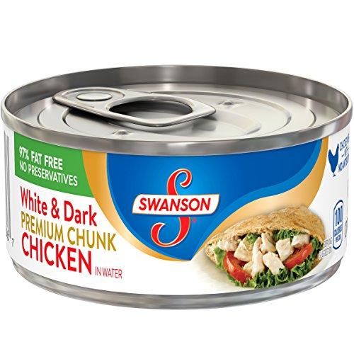 Swanson Premium White& Dark Chunk Chicken in Water, 4.5 oz.