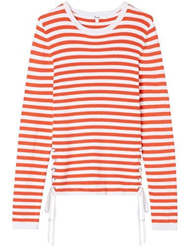 Find À white Red Dénudées shirt Epaules Femme sports T Multicolore rqRCEwr