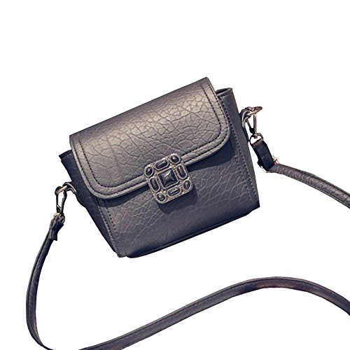Black Fashion Women Pu Shoulder Bag Satchel Crossbody Tote Handbag Purse Messenger Bag Sincere-handbag0069