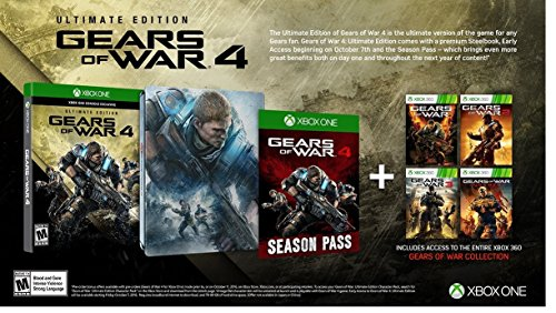 Gears of War 4: Collector's Edition (Includes Ultimate Edition SteelBook + Season Pass) - Xbox One