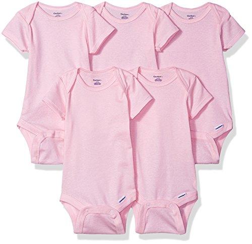 Gerber Baby Girls Solid Onesies
