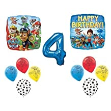 Paw Patrol Happy 4th Birthday Balloon Set by Party Supplies