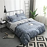 Duvet cover,Student dorm room Quilt cover Bedding set double Comforter cover (Include:Quilt cover x1 Bed sheet x1 Pillowcase x2)-T Super King1