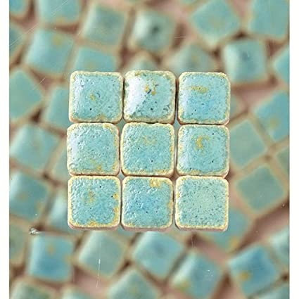 MosaicMicros Mini Mosaic Tiles Ceramic Glazed 5 x 5 x 3 mm 10 g ~ 100 pcs White