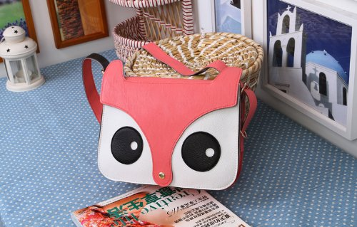 PU Handbag Messenger Arrive Aokeshen Tote Charm Owl Shoulder Ladies Pink Retro New Fox Womens School Bag Purse aX6wvXWq