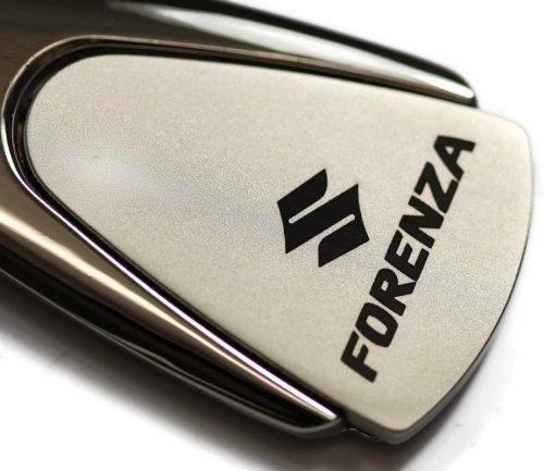 suzuki-forenza-chrome-teardrop-key-fob-authentic-logo-key-chain-key-ring-keychain-lanyard