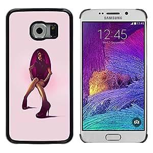 Caucho caso de Shell duro de la cubierta de accesorios de protección BY RAYDREAMMM - Samsung Galaxy S6 EDGE - Tacón de aguja mujer