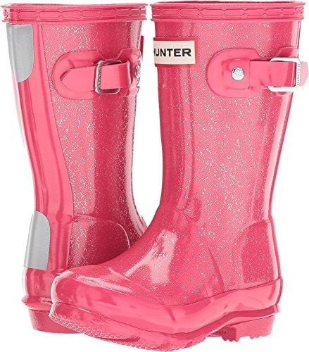 (Hunter Kids Unisex Original Kids' Glitter Finish Wellington Rain Boots (Toddler/Little Kid) Mosse Pink 10 M US)