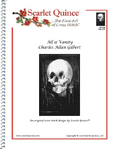 Scarlet Quince GIL001lg All is Vanity by Charles Allan Gilbert Counted Cross Stitch Chart, Large Size Symbols